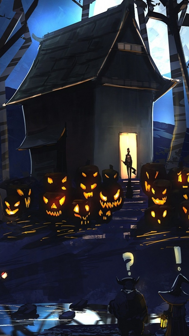 Halloween House Painting