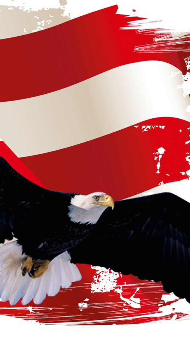 iPhone Patriots Day Eagle Wallpaper