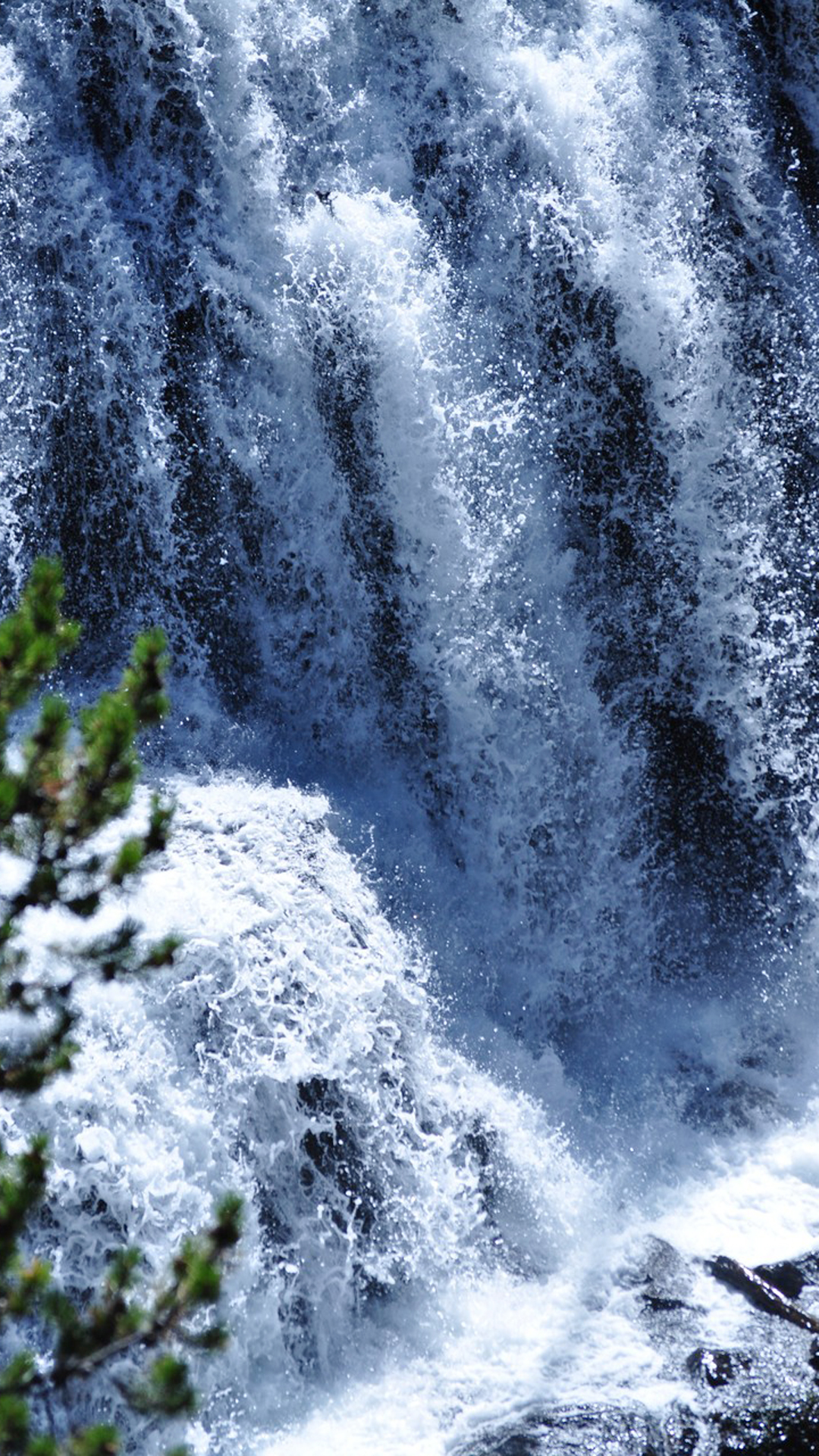 Waterfall From Hill