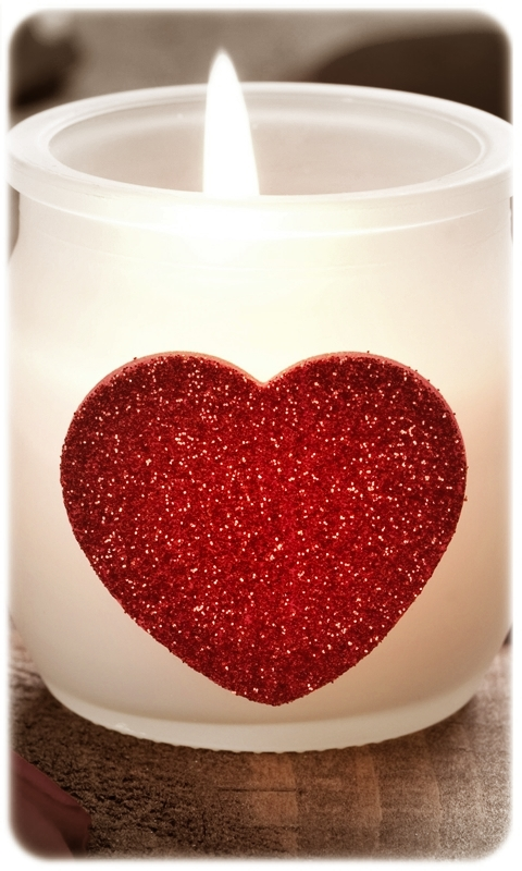 Love Shape Candle