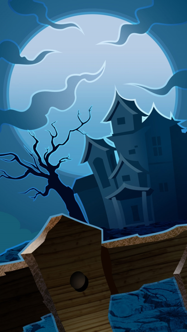 Scary Halloween House Painting