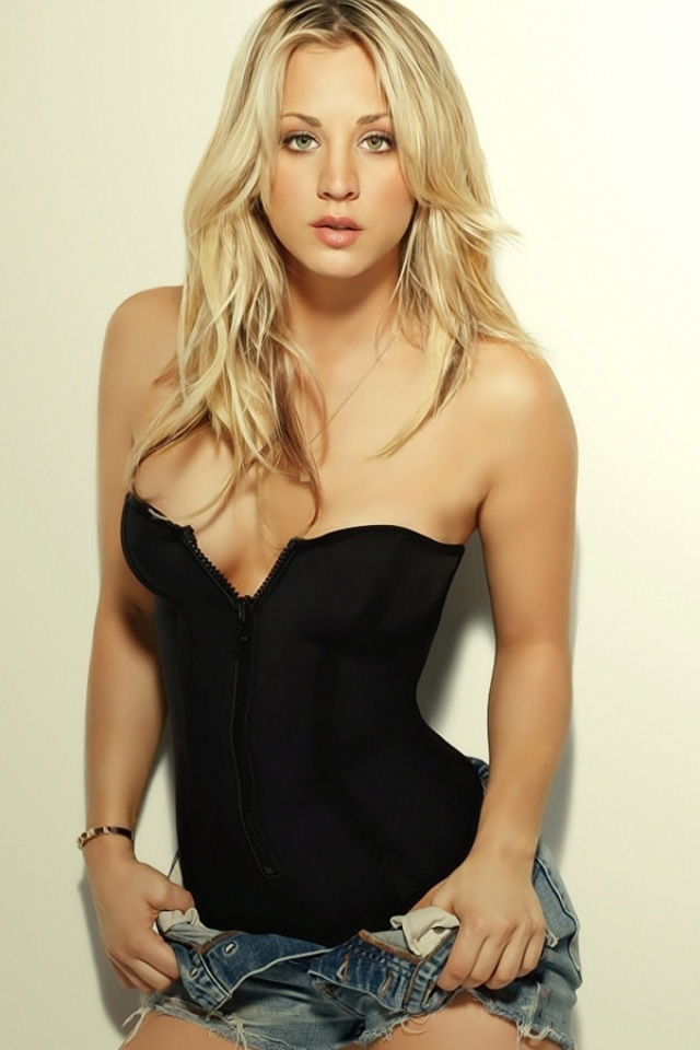 Kaley Cuoco In Black Top