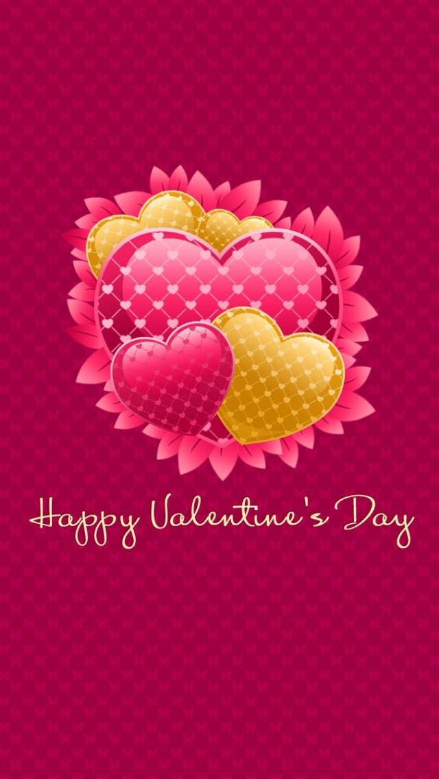 Happy Valentines Day Colorful Hearts