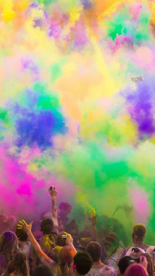 Holi Colors In Air