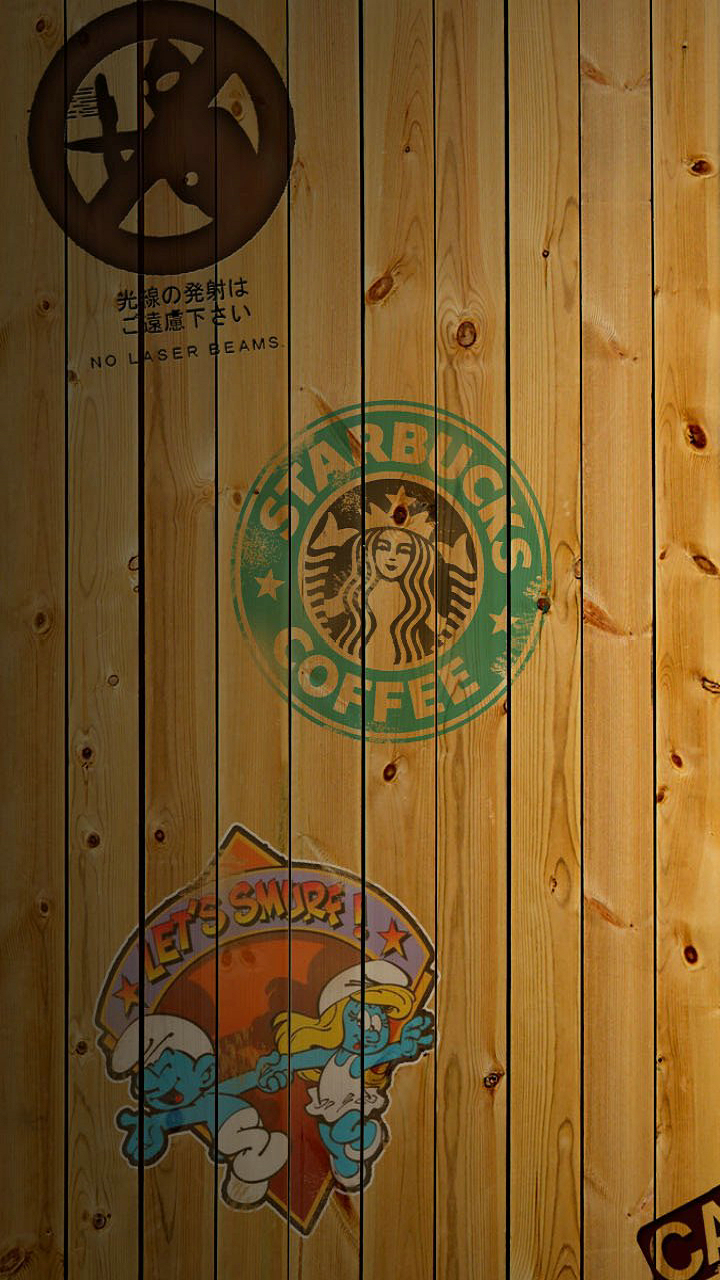 Starbucks Wood Background