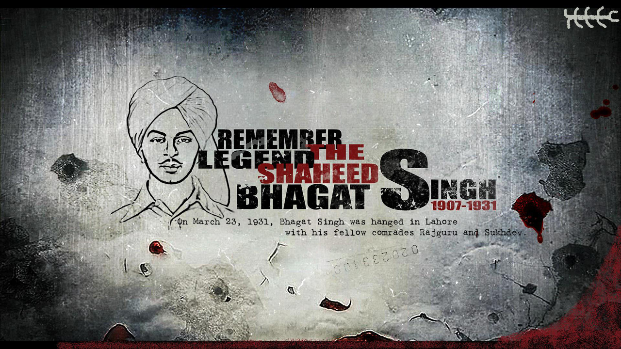 The Legend Bhagat Singh Freedom Poster
