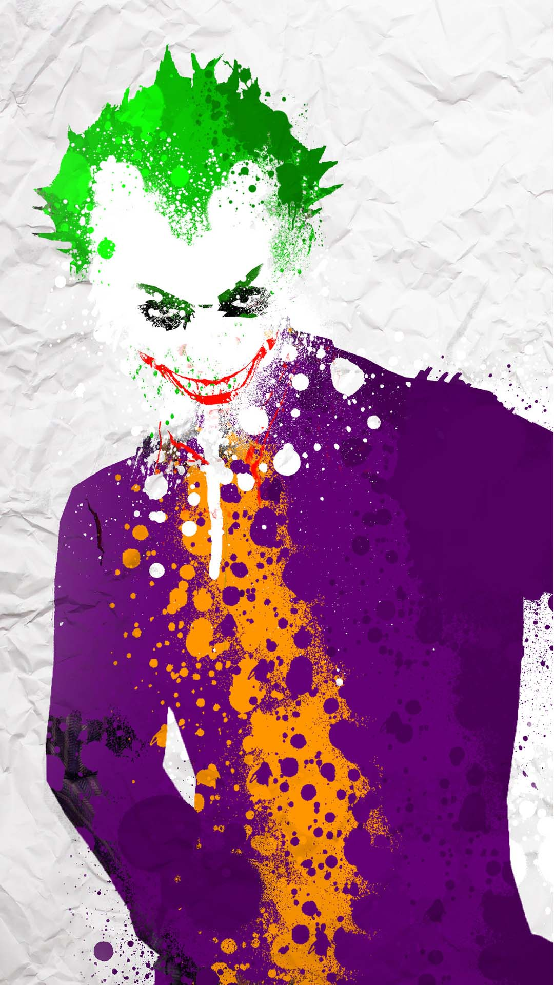 Joker Splatter Funny Colors