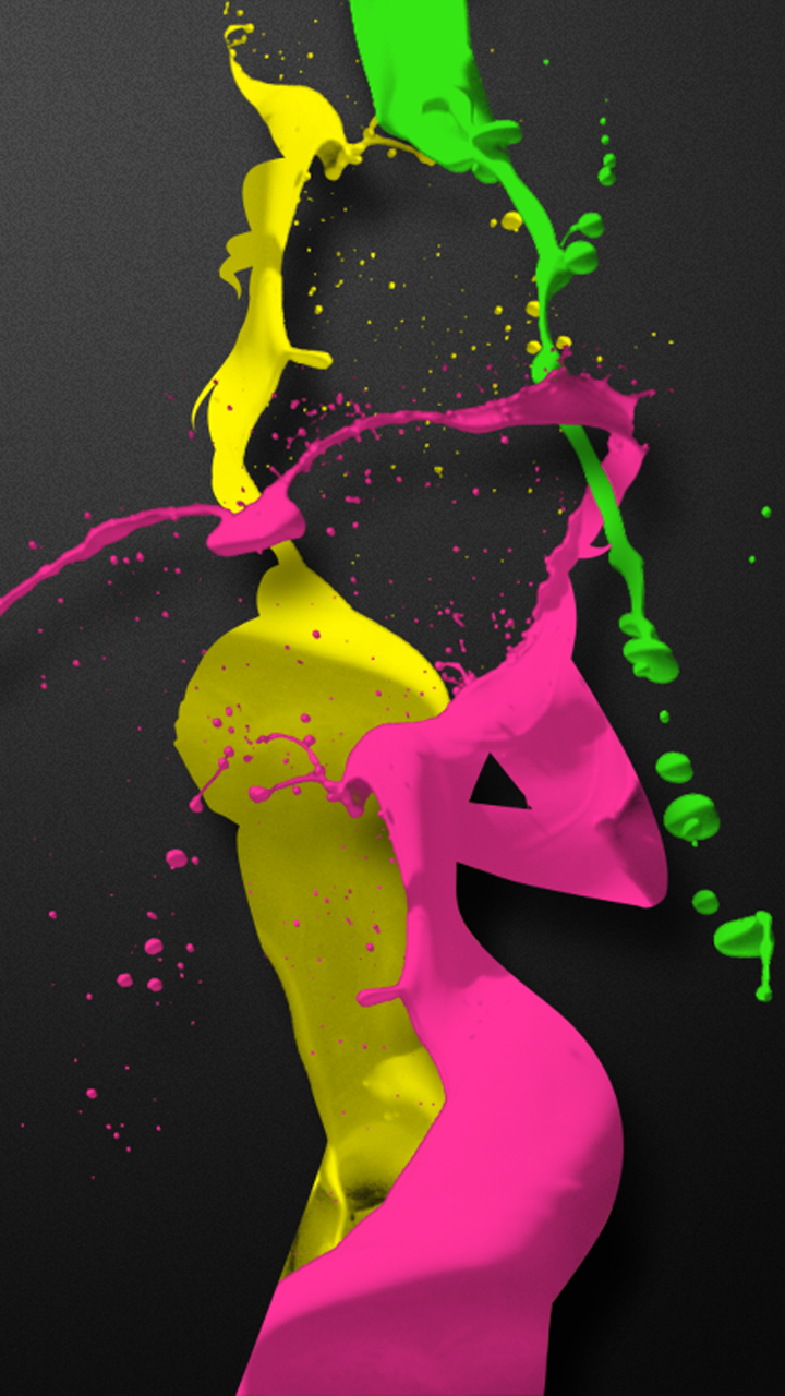 Playgirl Splatter Wallpaper