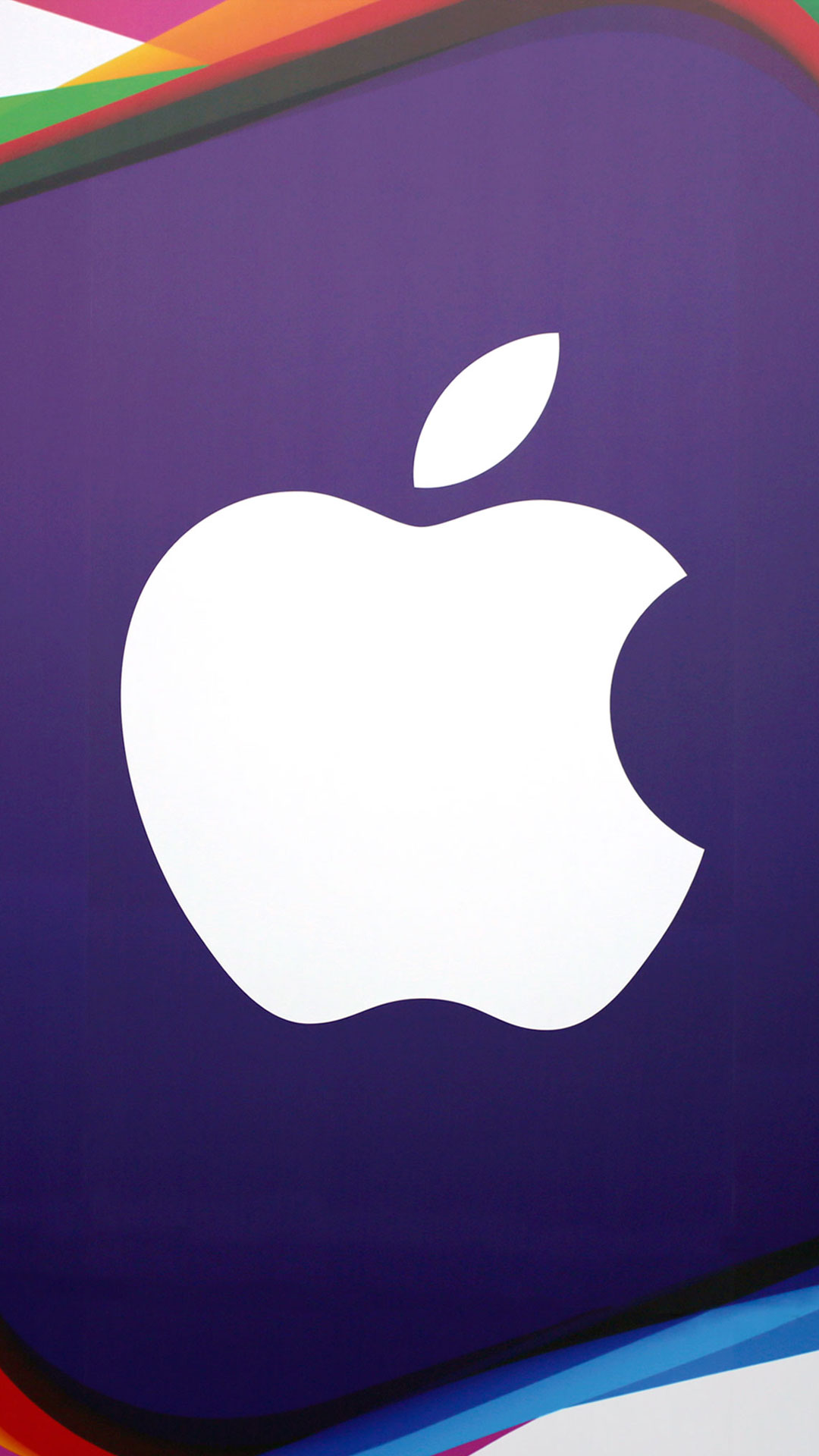 Apple Logo Violet Background