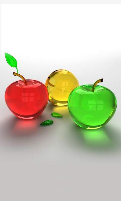 Glass Fruits Wallpaper