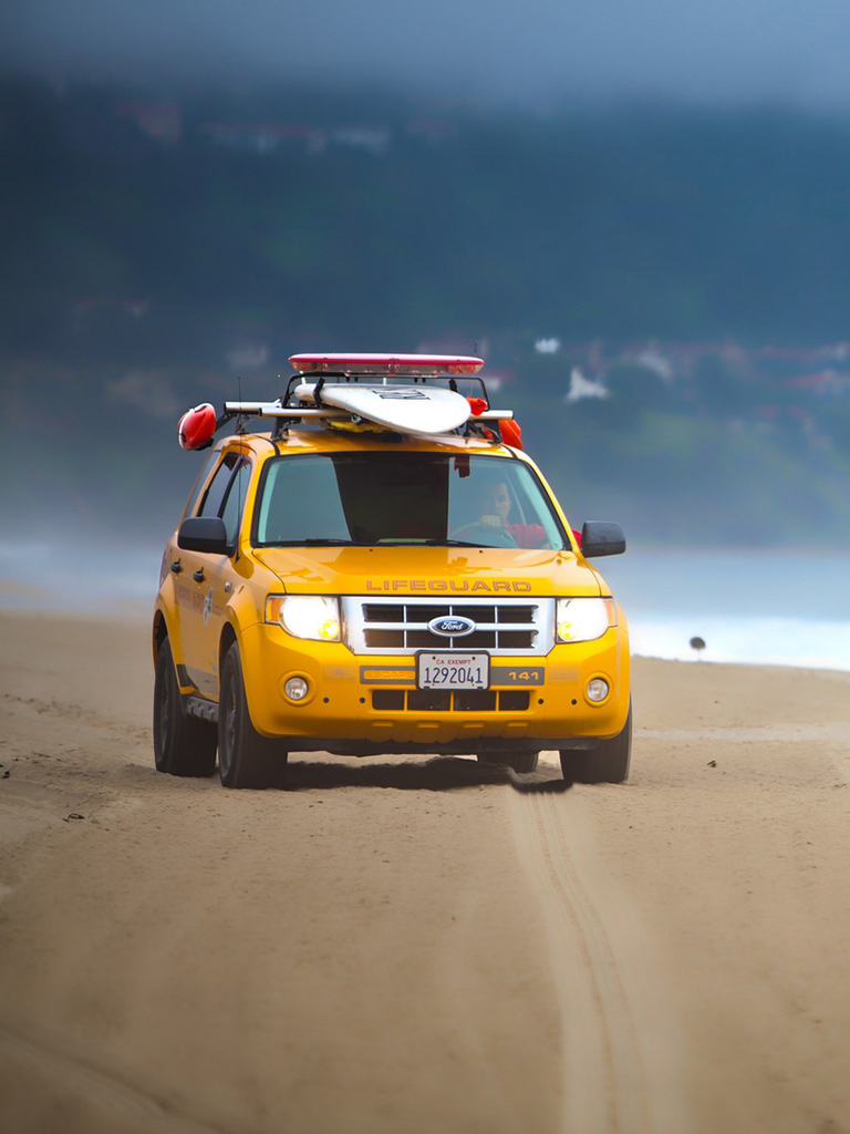 Lifeguard Beach SUV Yellow Ford