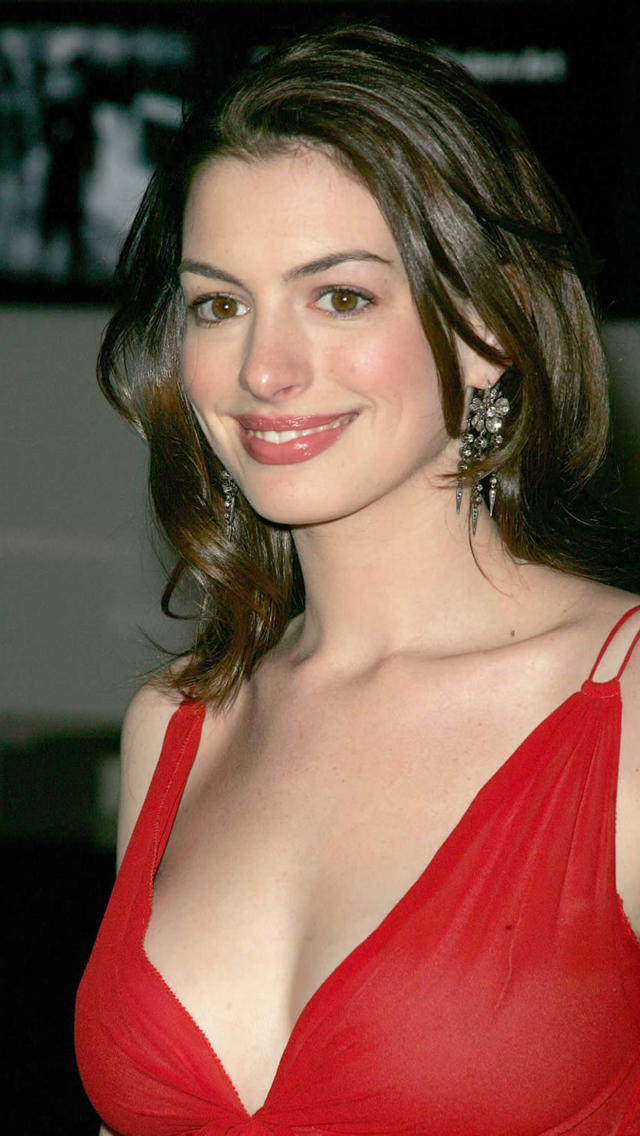 Anne Hathaway in Red Dress