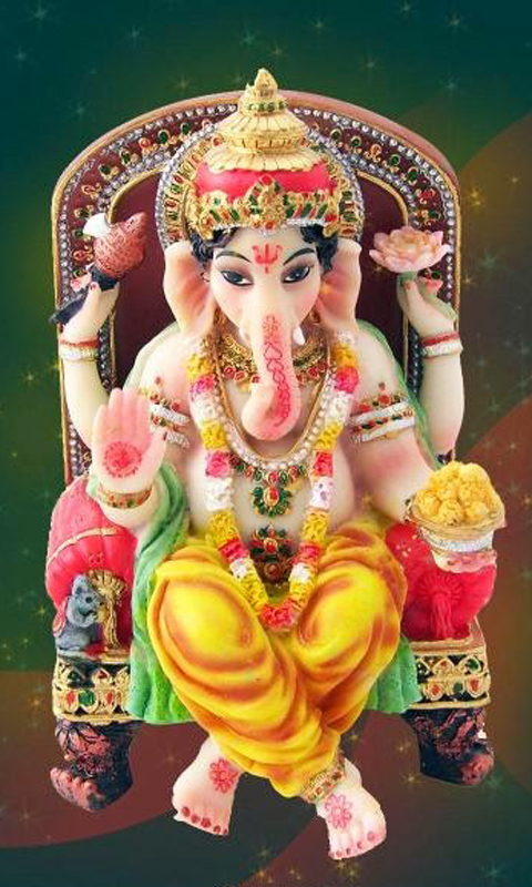 Happy Chaturthi Ganesha Wallpaper