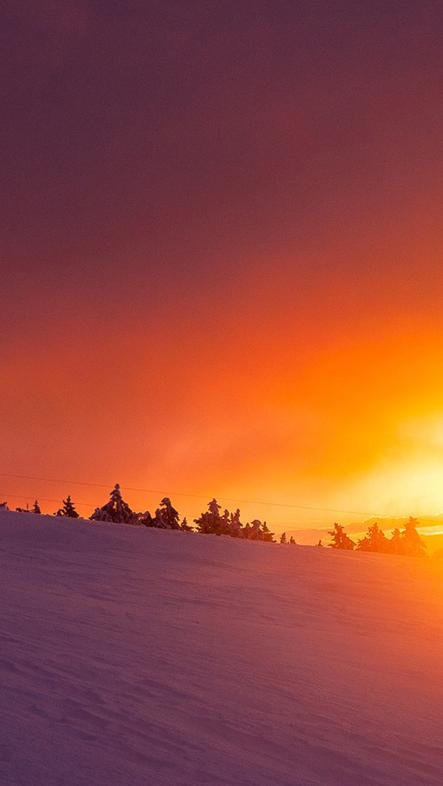 Sunset View In Snow