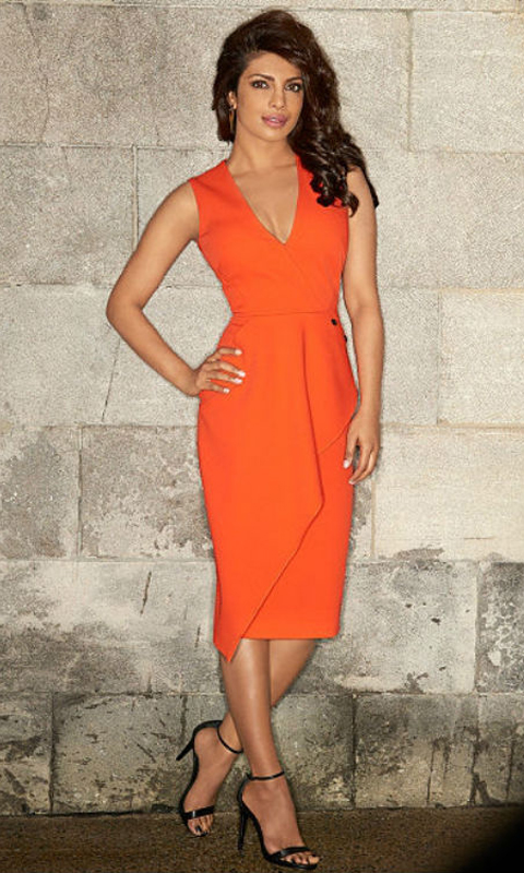 Beautiful Priyanka in Orange