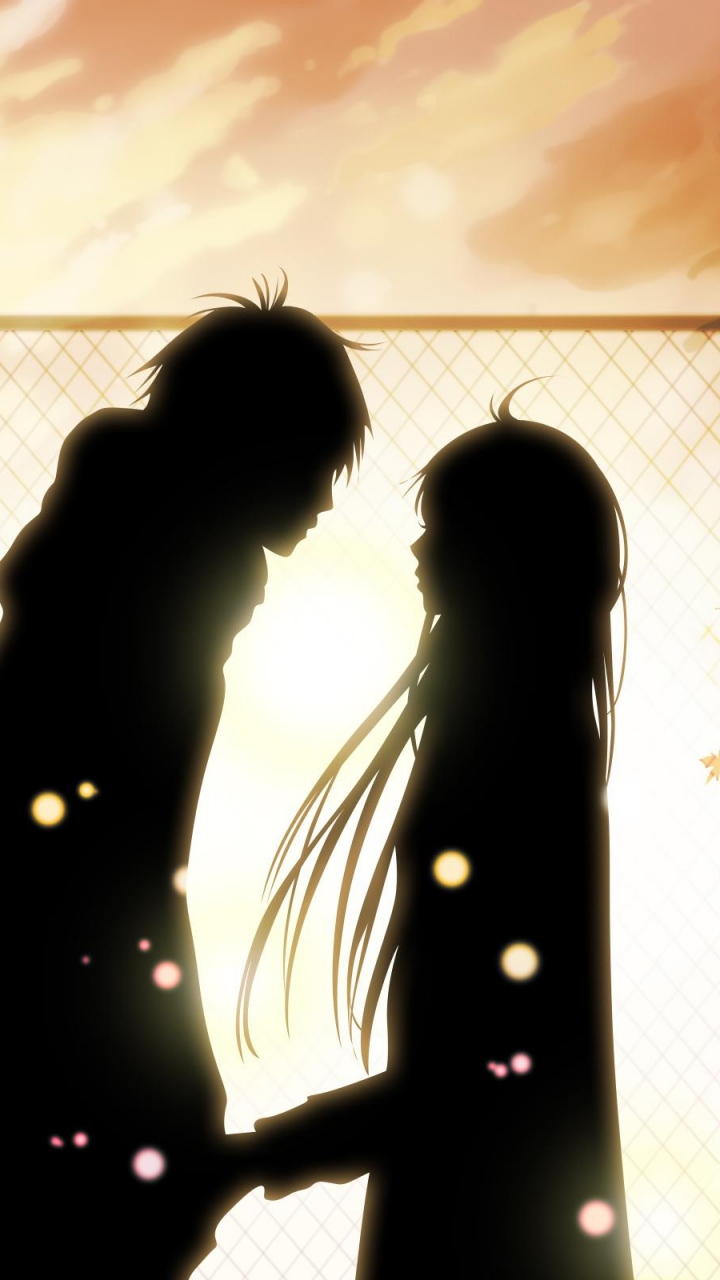 Sweet Couple Silhouettes Wallpaper