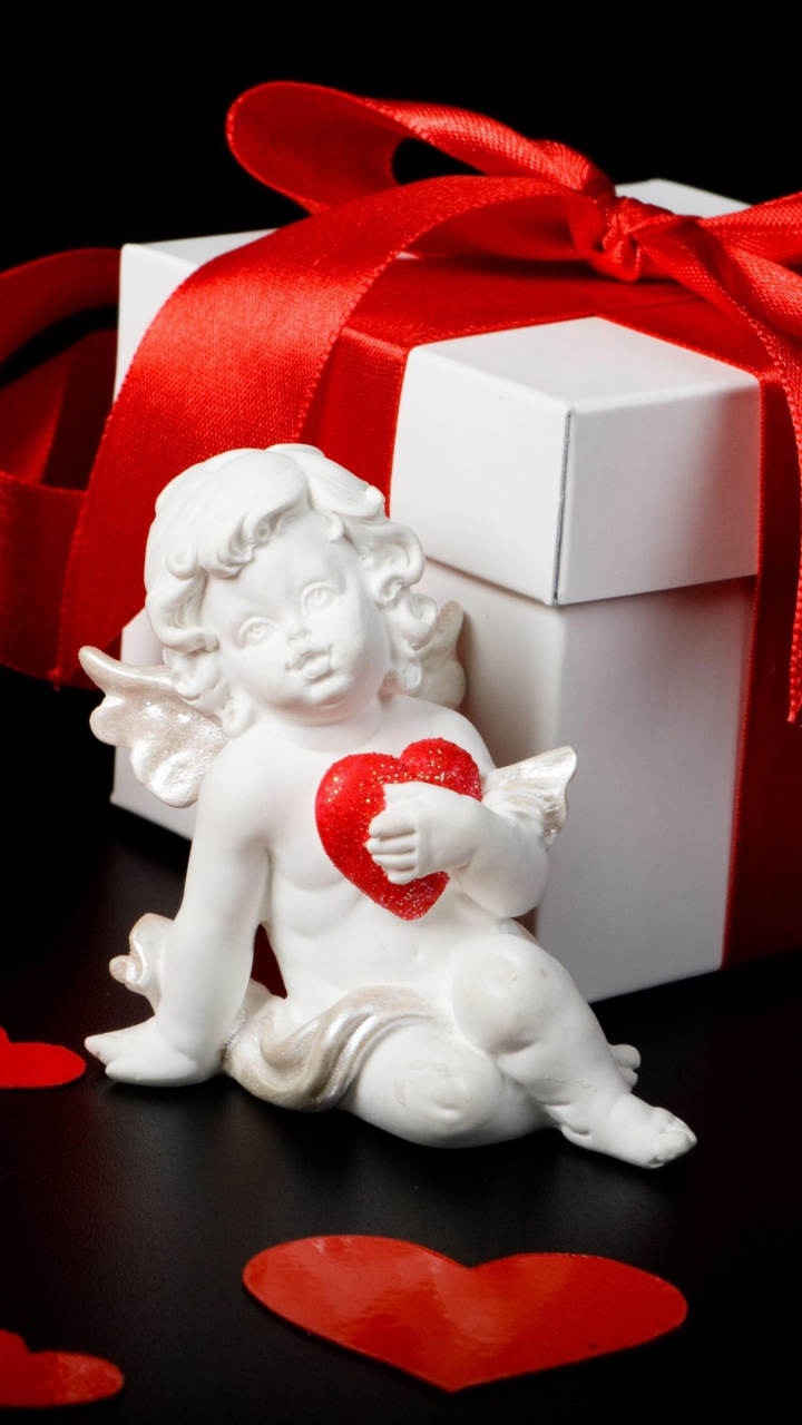 Gift With Cupid Heart