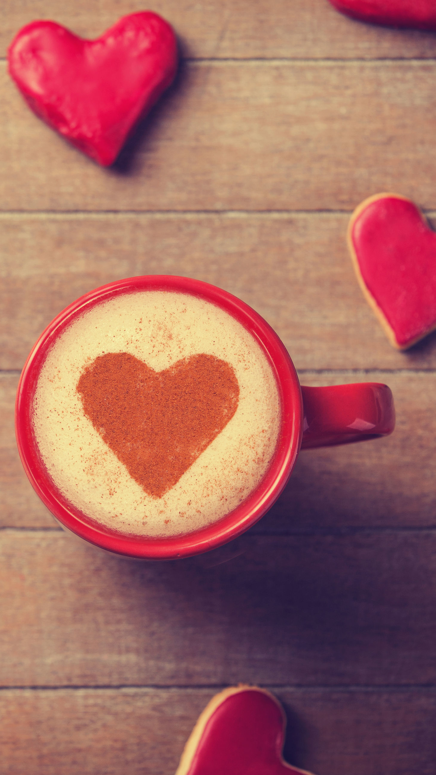 Sweet Valentines Day Coffee Heart