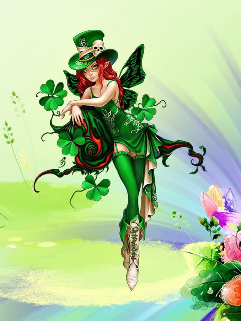 St. Patrick's Day Witch Clipart