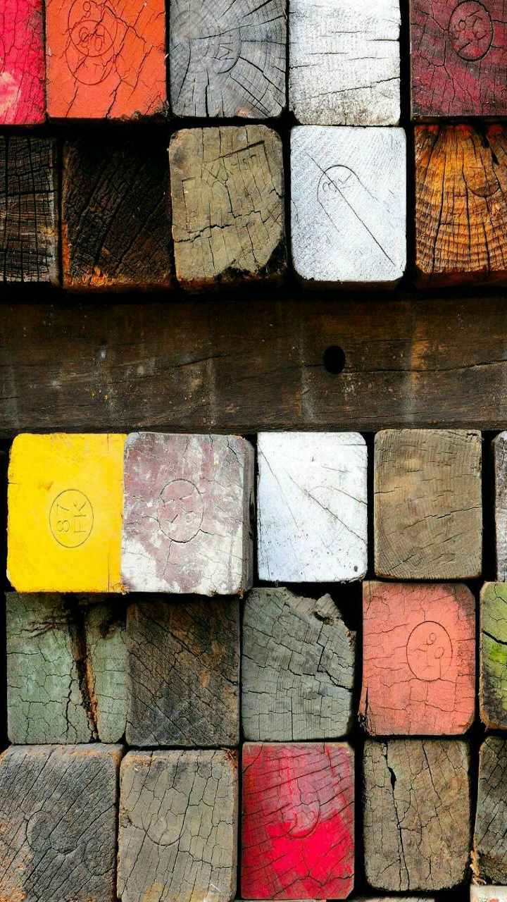 Colored Wooden Picture