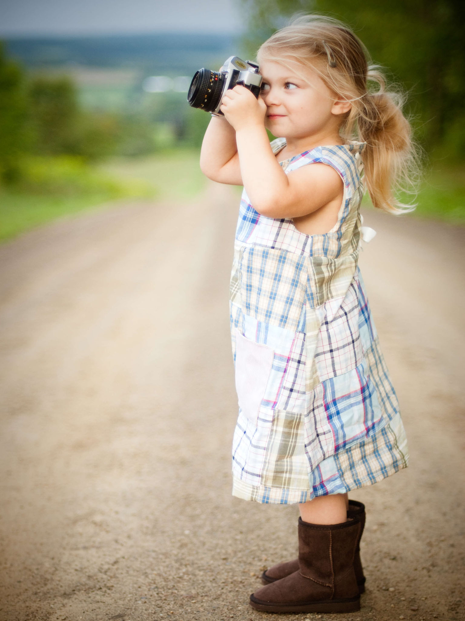 Cute Little Camera Girl