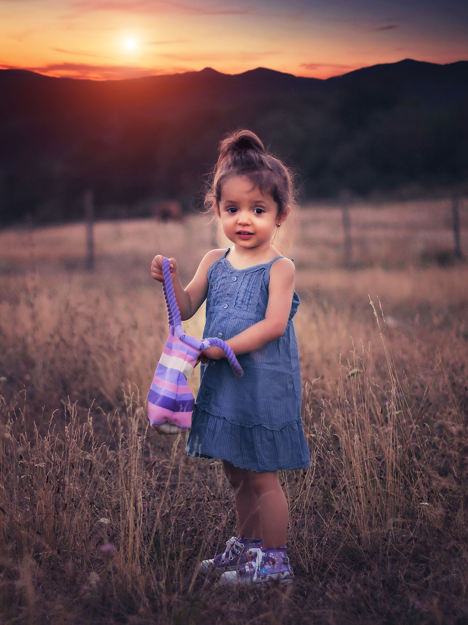 Little Girl With Handbag