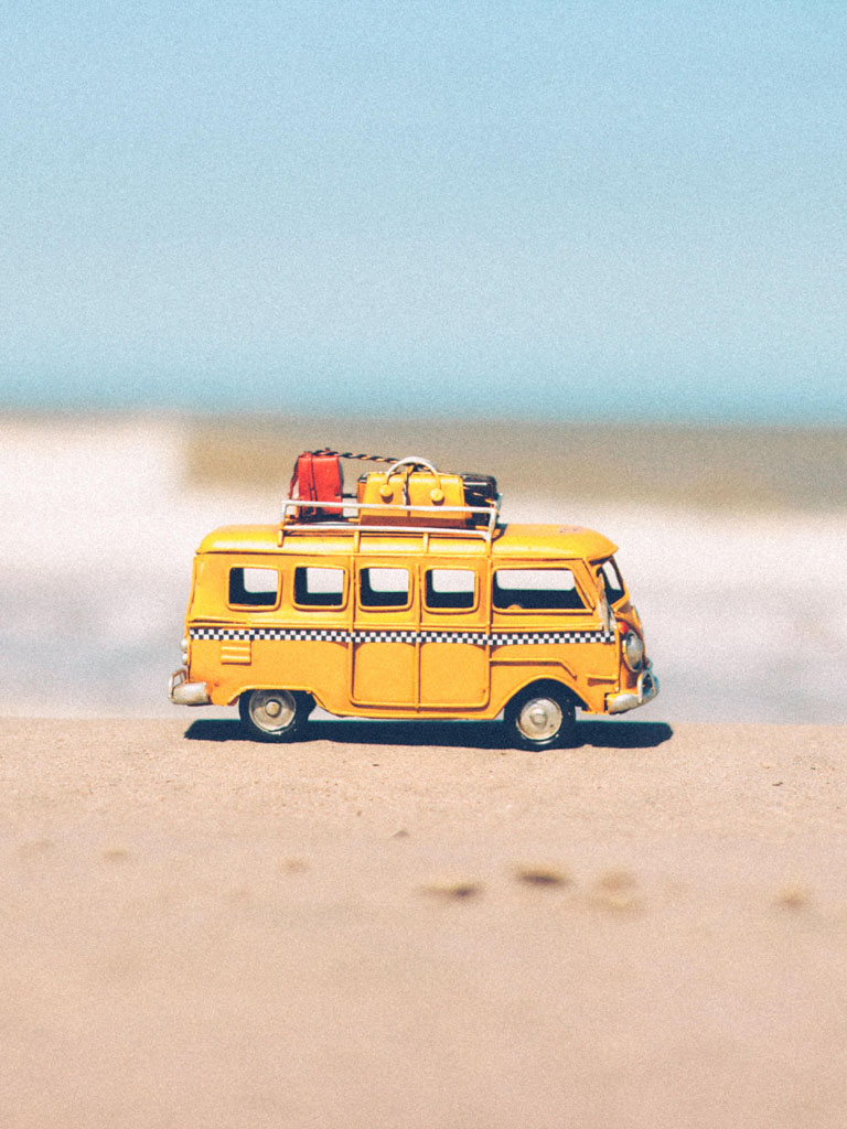 Traveller Mini Bus at Beach